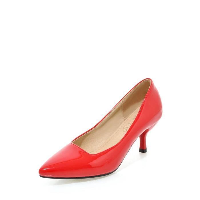 Escarpin Femmes Pompes bout pointu talon mince solide mi Couleur sélectionl élégant Chaussures Chic 11947218
