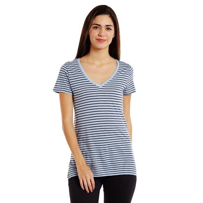 d3aac688c7eb6 Gap T-shirt rayé de la femme KXYPZ Taille-32 Noir Noir - Achat ...