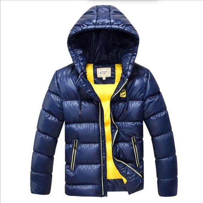 en soldes 2430e 4cc19 Tongcart 7-16 Ans Enfants Garçons Hiver Manteau Veste Mode à Capuche Parkas  Ouatine Vêtements D'extérieur épaissir Chaud Vêtem