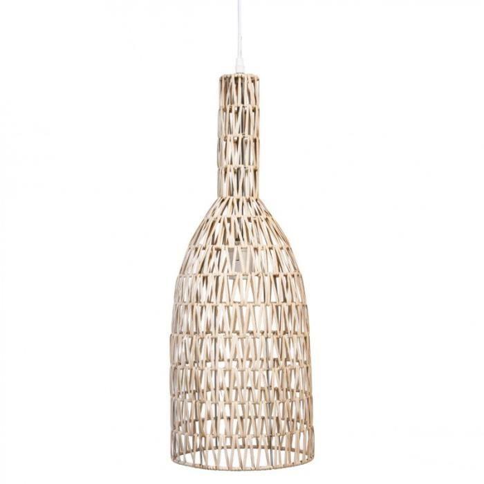 paris prix lampe suspension rotin 63cm beige marron achat vente paris prix lampe. Black Bedroom Furniture Sets. Home Design Ideas