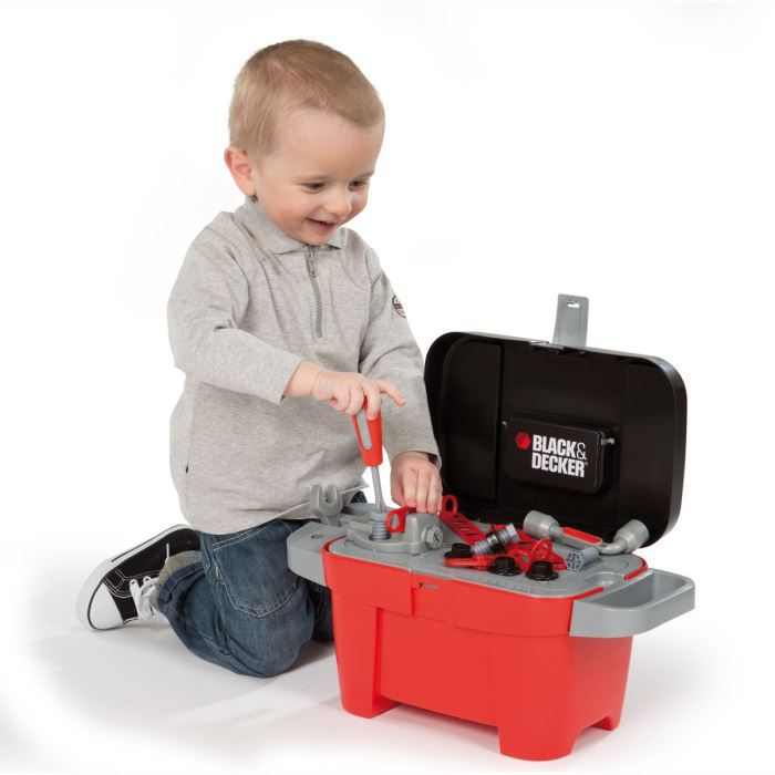 smoby black decker bo te outils tooly achat vente. Black Bedroom Furniture Sets. Home Design Ideas