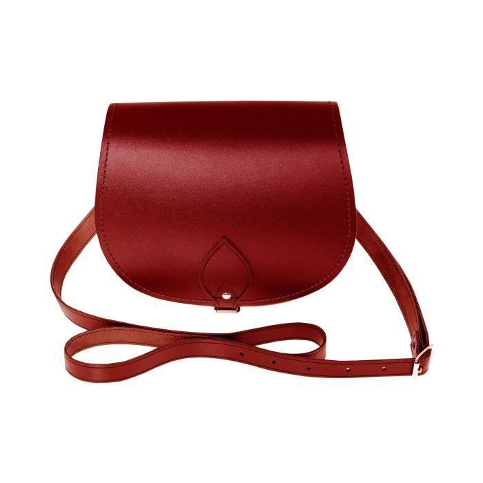 Zatchels - Sac à bandoulière en cuir (Fabrication britannique à la main) - Femme