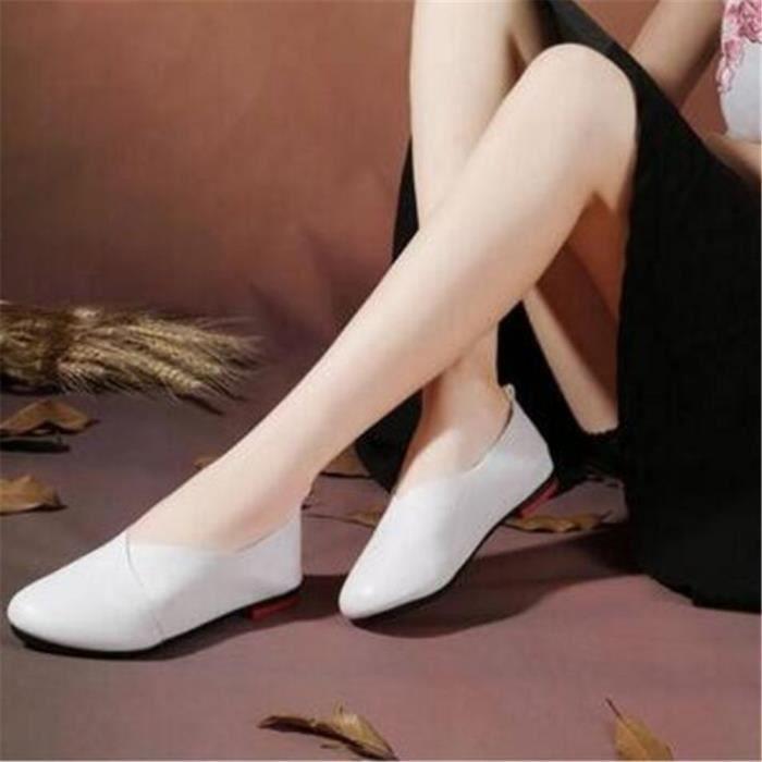 Loafer femme en cuir véritable Marque De Luxe Mode Antidérapant Confortable Femmes Moccasins Grande Taille Chaussures femmes