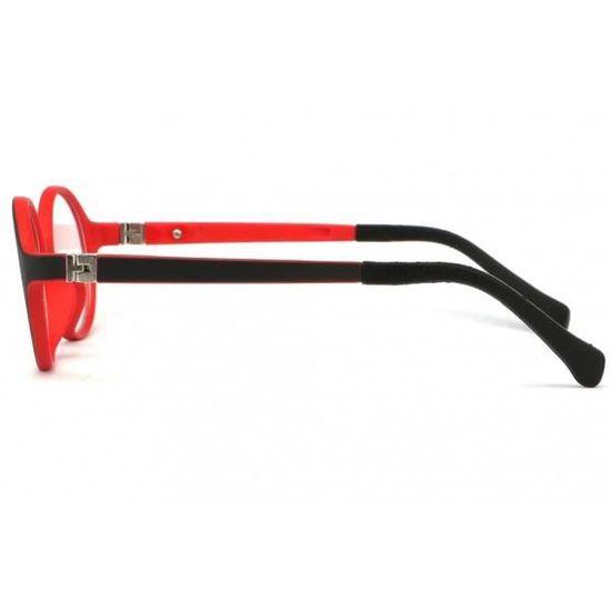 77c9f426f02ceb Monture lunette enfant rouge et noir 7 à 12 ans Kick - Rouge - Taille  unique - Achat   Vente lunettes de vue Monture lunette enfant rouge Garçon  Enfant - ...
