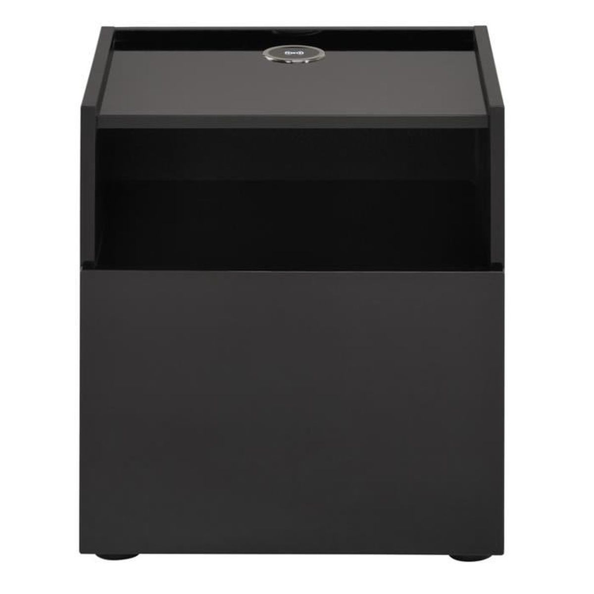 table de chevet noir brillant - achat / vente table de chevet noir