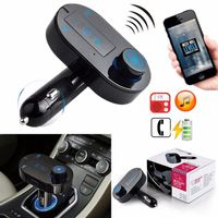 TRANSMETTEUR FM Sans Fil Bluetooth LED Voiture Kit USB Chargeur FM