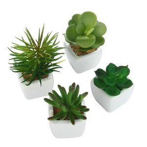 mini pot de fleurs avec fleur artificielle achat vente. Black Bedroom Furniture Sets. Home Design Ideas
