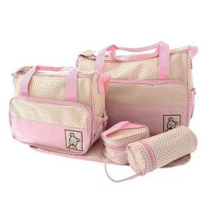 SET DE SACS DE VOYAGE 5 en 1 Tote bébé épaule Diaper Bags Nappy sac momi