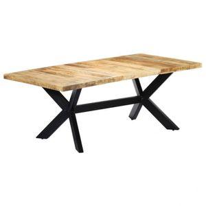 TABLE À MANGER SEULE Table de salle manger 200x100x75 cm Bois de mangui