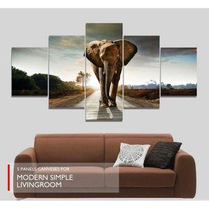 tableau elephant achat vente tableau elephant pas cher cdiscount. Black Bedroom Furniture Sets. Home Design Ideas
