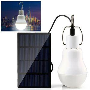 PROJECTEUR - LAMPE Ampoule LED  Lampe Panneau Solaire Portative Tente
