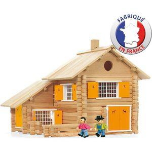 assemblage construction jeujura la maison en bois 240 pices - Jeu De Construction De Maison Gratuit