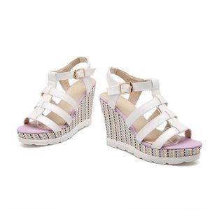 doux leasure de la mode des chaussures semelles de coin de la femme avec d coration bowknot vCMvk