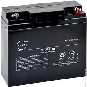 BATTERIE DOMOTIQUE NX - Batterie plomb AGM C 12V-18Ah 12V 18Ah G-M6