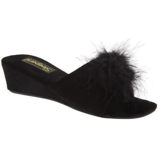 Sleepers Vente Femme Achat Chaussons Anne Mules Noir xqrTxBRwg