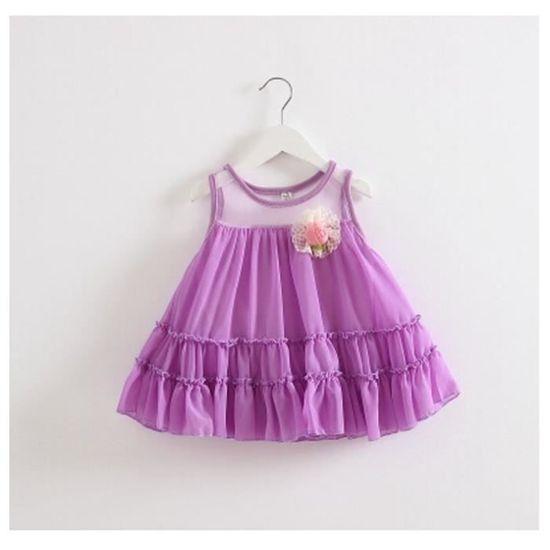 d37768cd504 Jupe robe de princesse robe bébé fille 0-1-2-3 ans Vêtements de bébé cadeau  d anniversaire pourpre