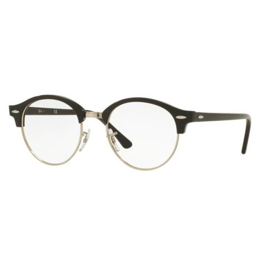 Lunettes de vue Ray-Ban Clubround RX4246V 2000 Shiny Black 49-19 Noir -  Achat   Vente lunettes de vue Lunettes de vue Ray-Ban Mixte Adulte -  Cdiscoun ef584368462f