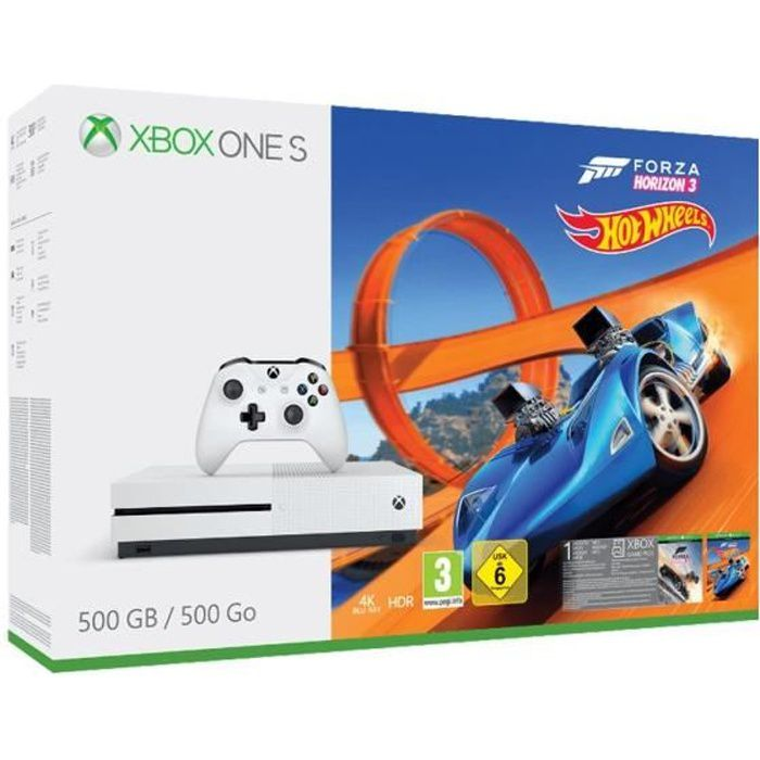 Pack Xbox one S 500 Go FH3 Hot Wheels