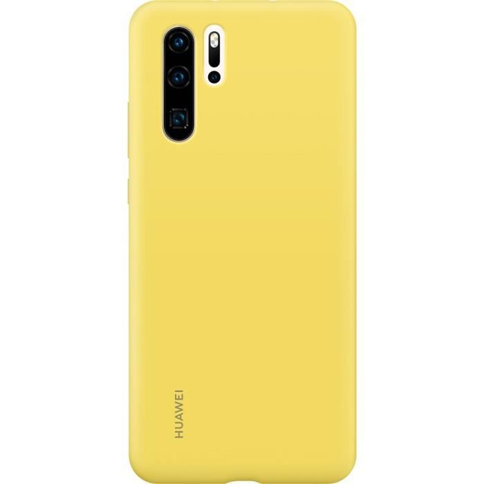 HUAWEI-Silicone Case Yellow- Coque rigide finition soft touch jaune Huawei pour P30 Pro