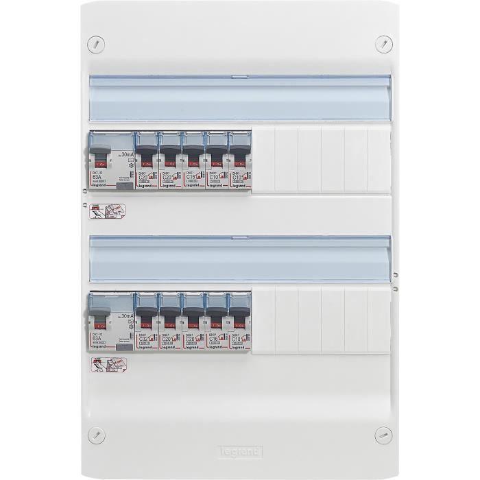 LEGRAND Tableau électrique équipé précâblé Evolué spécial pour logement T1 ou T2