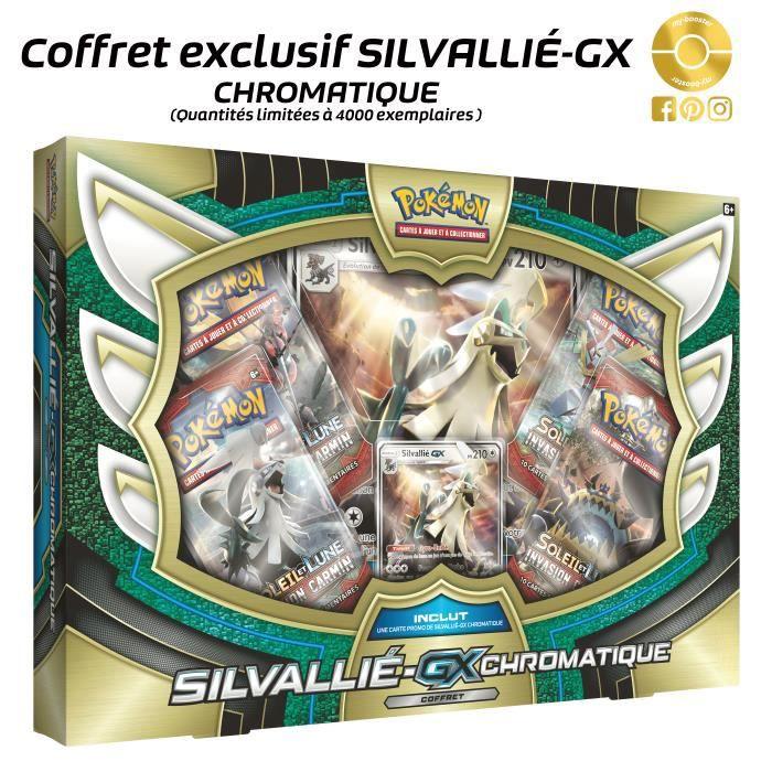 CARTE A COLLECTIONNER Coffret Pokemon - Silvallié GX Chromatique 210PV (