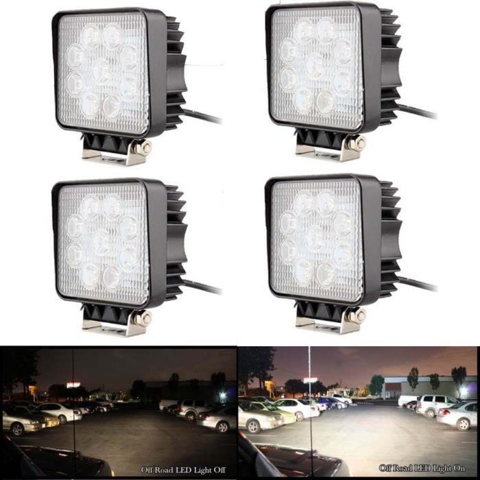 Truck Spot Voiture De 4pcs Travail Light Phare Lampe Led 27w Flood xeWrdBoC