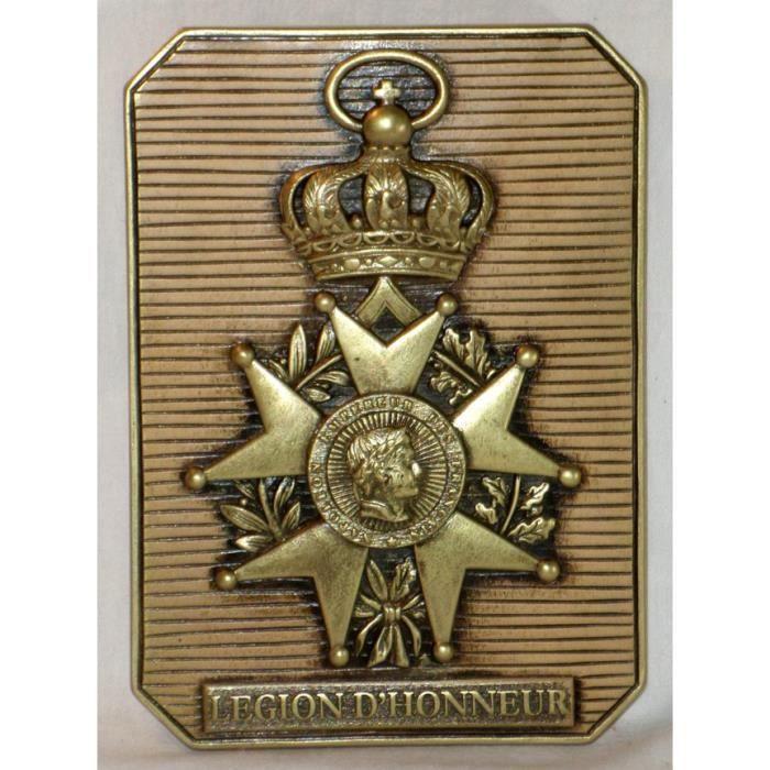 décoration Empire Bas relief Plaque Légion d'Honneur en pierre émaillée Art, antiquités