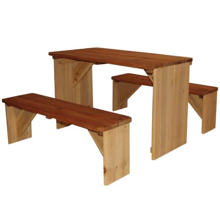 table de pique nique pour enfants en bois iro - Table Jardin Bois Enfant