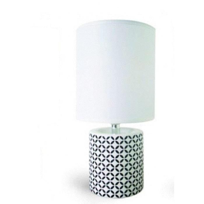 Lampe A Poser Noire Et Blanche Moderne Design Pied Graphique