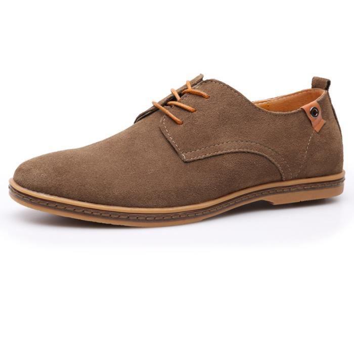 De Suede Cuir Noir Chaussures Ville Kaki Homme Achat Derby QdBhrtCosx