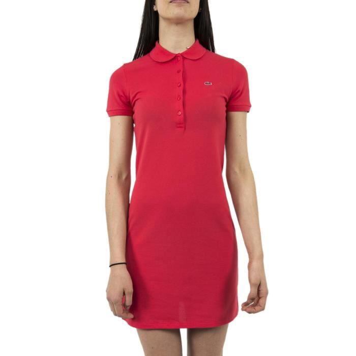 Robe lacoste ef8078 rouge Rouge Rouge - Achat   Vente robe - Cdiscount 99f9e56a50d