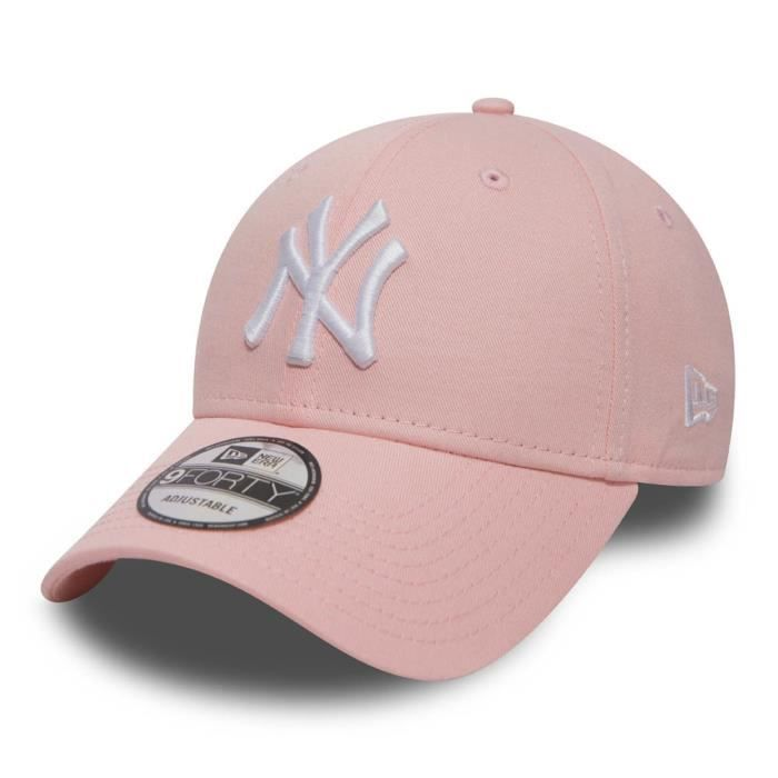 Casquette New Era New York Yankees 9forty unitaille Rose Rose ... 22c6b3ad7d67