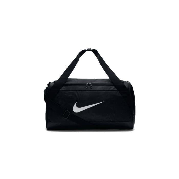 8351e5d0dd Nike NK Brsla S Duff-Aop Sac de Sport Mixte Adulte, Noir-Noir-Blanc, 52 x  30 x 27 cm, 40 l