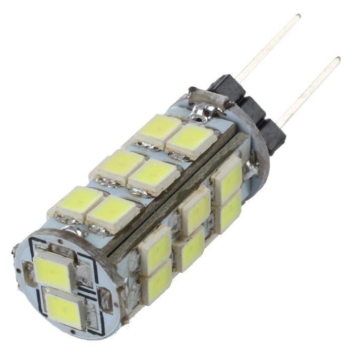 5pcs G4 26 LED SMD Blanc Pur Projecteur RC Marine Lumiere Camper Ampoules Lampe 12V 2W