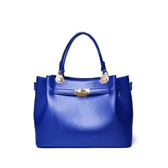 Classique Femmes Couleurs Pu cuir sacs à main Combo - Top Poignée Cross Satchel Sacs à main pour les filles ZDTM8