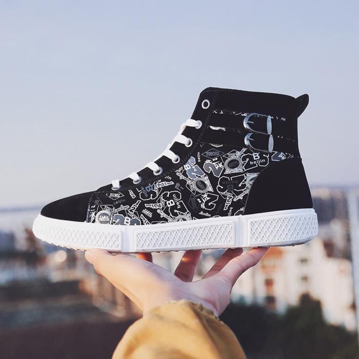 Sneakers Capsdao®6480 Casual Aide Hommes Numérique slip Haut Sport Chaussures Lacées Impression Non R8qq4f