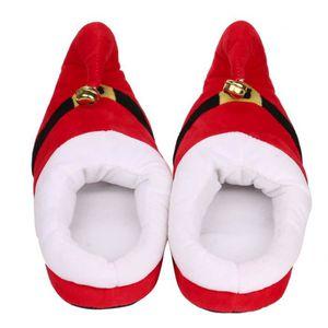 Hiver Pantoufles Pour Enfants Noël Garçon Fille Pantoufles En Peluche BBZH-XZ135Rouge31 Di8Ho