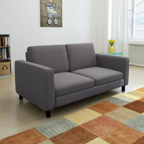 Canapé moderne sofa de 2 places de bureau ou Salon Cadre en bois + ...