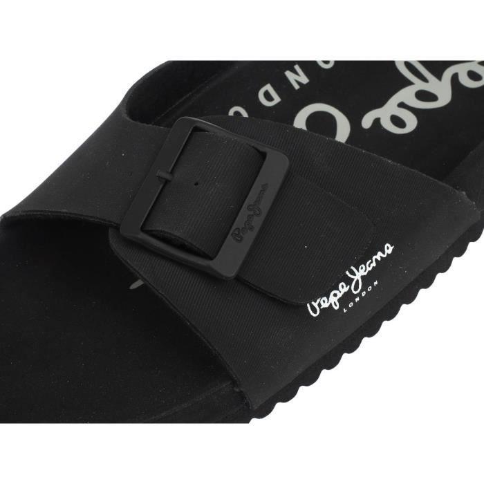 Claquettes mules Bio royal single noir - Pepe jeans