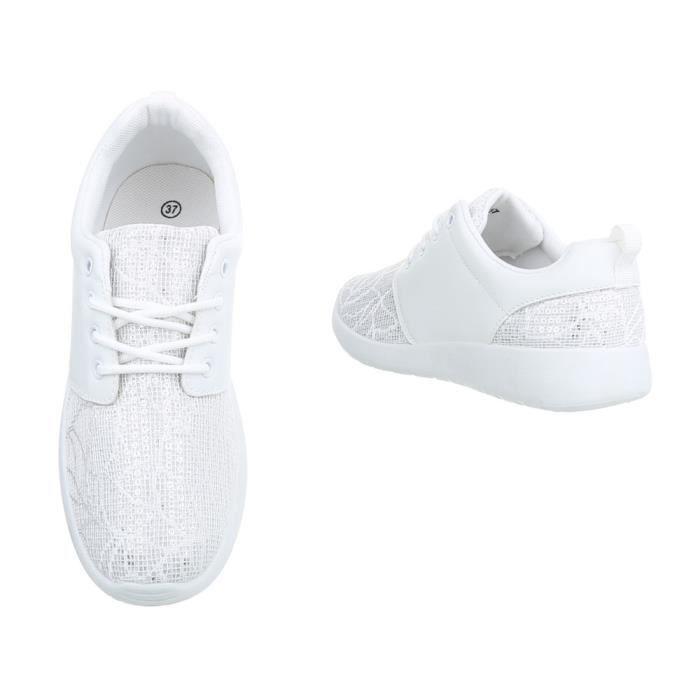 Chaussures femme Chaussures de sport des baskets crème 40