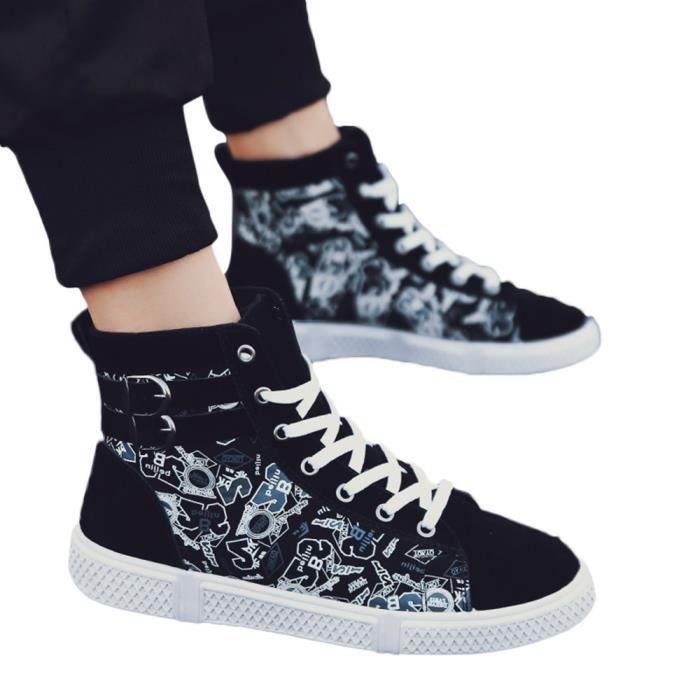 Casual Hommes Numérique Lacées slip Sneakers Sport Capsdao®6480 Aide Haut Non Impression Chaussures dqqrU