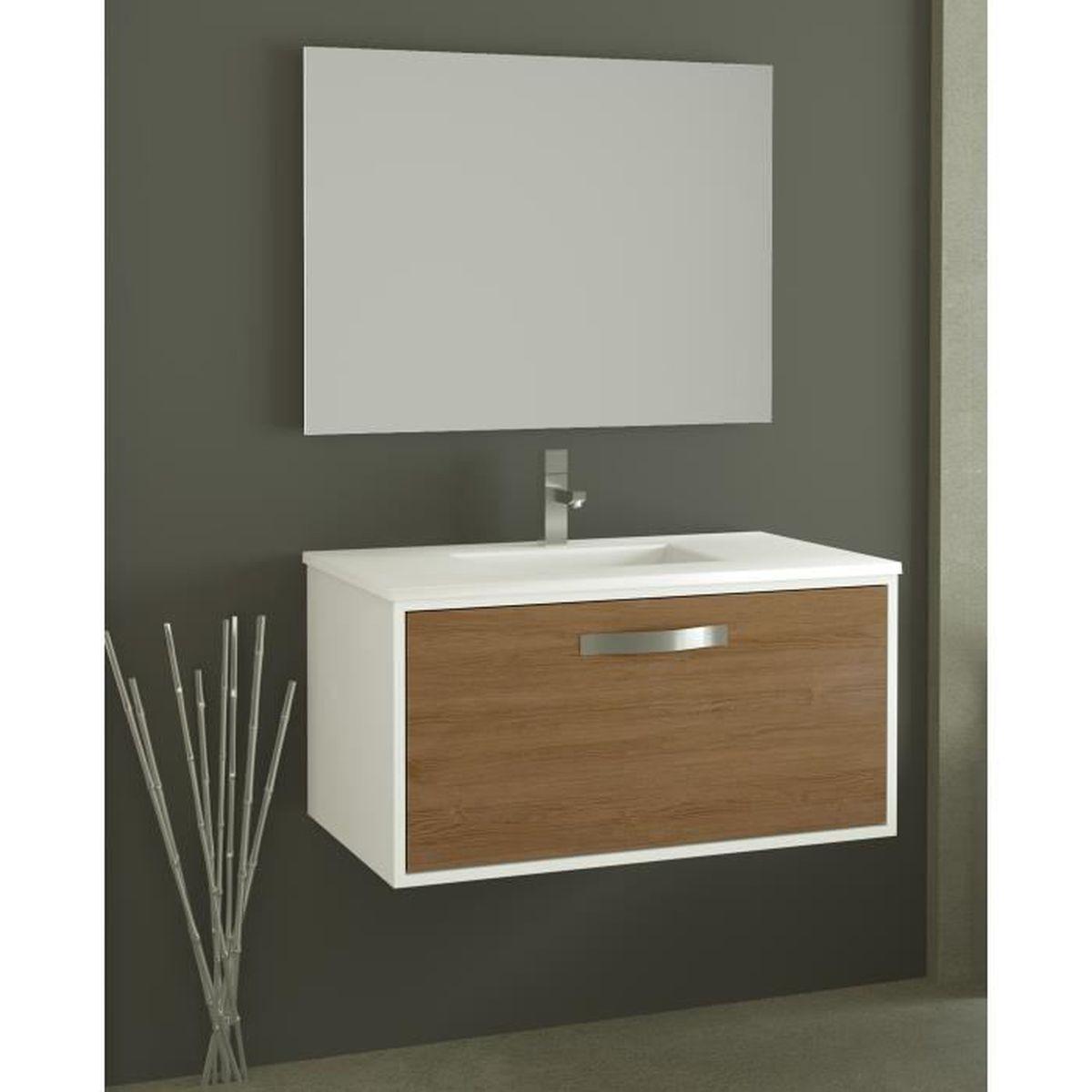 meuble sous vasque complet pisa 60cm achat vente salle de bain complete meuble sous vasque. Black Bedroom Furniture Sets. Home Design Ideas