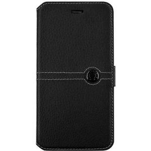 FACONNABLE Etui Folio pour iPhone 8 Plus 7 Plus Noir