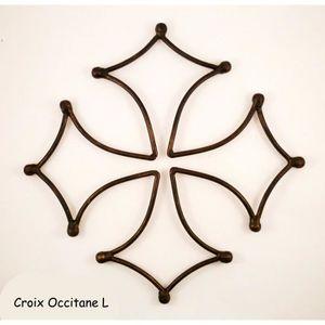 OBJET DÉCORATION MURALE Croix occitane L