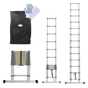 ECHELLE - ESCABEAU Échelle Télescopique 3.80m + Housse et gants