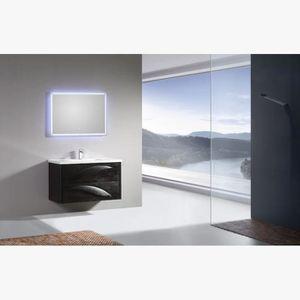 Meuble salle de bain 100 cm 2 vasques - Achat / Vente Meuble salle ...