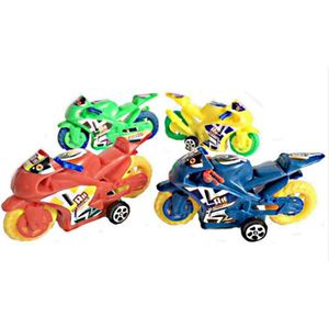 MOTO - SCOOTER 4 PETITE MOTO A FRICTION 8 X 4 CM JOUET