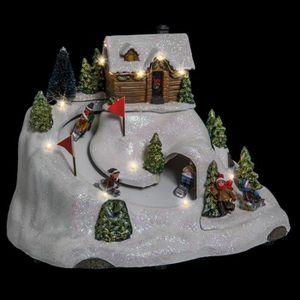 VILLAGE - MANÈGE Village de Noël lumineux Descente de luge