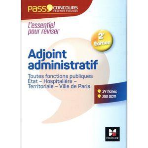 69964aa5d08 LIVRE CARRIÈRE EMPLOI Livre - pass concours   adjoint administratif fonc
