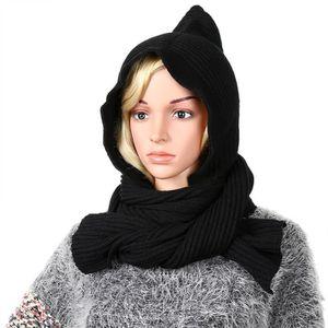 ECHARPE - FOULARD Écharpe à capuche pour femmes -Noir-2861036 713902b5cea